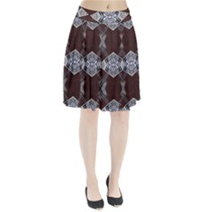 Ladder Against Wall Abstract Alternative Version Pleated Skirt
