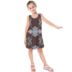Ladder Against Wall Abstract Alternative Version Kids  Sleeveless Dress