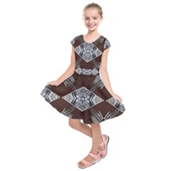 Ladder Against Wall Abstract Alternative Version Kids  Short Sleeve Dress