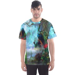 Beautiful Peacock Colorful Men s Sport Mesh Tee