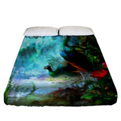 Beautiful Peacock Colorful Fitted Sheet (king Size)