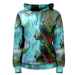 Beautiful Peacock Colorful Women s Pullover Hoodie