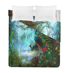 Beautiful Peacock Colorful Duvet Cover Double Side (full/ Double Size)