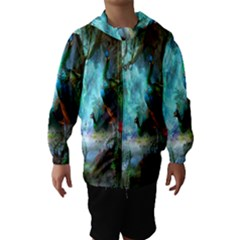 Beautiful Peacock Colorful Hooded Wind Breaker (kids)