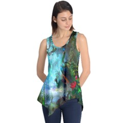 Beautiful Peacock Colorful Sleeveless Tunic