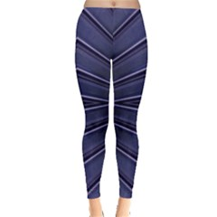 Blue Metal Abstract Alternative Version Leggings