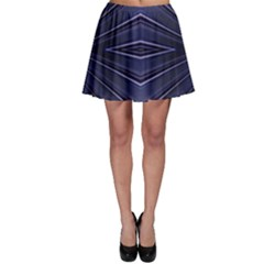 Blue Metal Abstract Alternative Version Skater Skirt