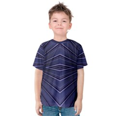 Blue Metal Abstract Alternative Version Kids  Cotton Tee