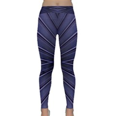 Blue Metal Abstract Alternative Version Classic Yoga Leggings
