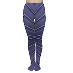 Blue Metal Abstract Alternative Version Women s Tights