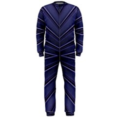 Blue Metal Abstract Alternative Version OnePiece Jumpsuit (Men)