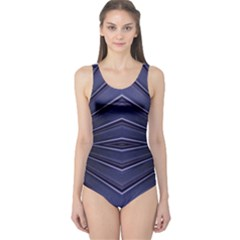 Blue Metal Abstract Alternative Version One Piece Swimsuit