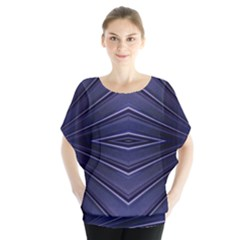 Blue Metal Abstract Alternative Version Blouse
