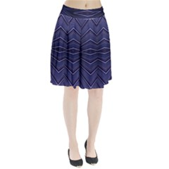 Blue Metal Abstract Alternative Version Pleated Skirt