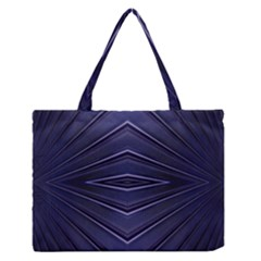 Blue Metal Abstract Alternative Version Medium Zipper Tote Bag
