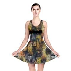 Fabric Weave Reversible Skater Dress