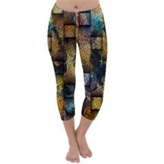 Fabric Weave Capri Winter Leggings