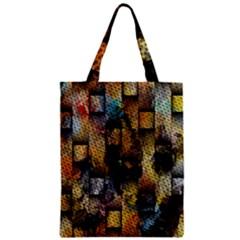 Fabric Weave Zipper Classic Tote Bag