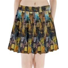 Fabric Weave Pleated Mini Skirt