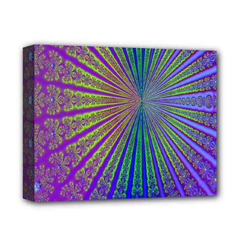 Blue Fractal That Looks Like A Starburst Deluxe Canvas 14  x 11