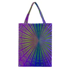 Blue Fractal That Looks Like A Starburst Classic Tote Bag