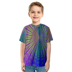 Blue Fractal That Looks Like A Starburst Kids  Sport Mesh Tee