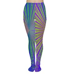 Blue Fractal That Looks Like A Starburst Women s Tights