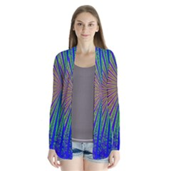 Blue Fractal That Looks Like A Starburst Cardigans