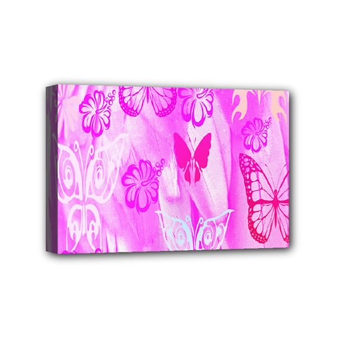 Butterfly Cut Out Pattern Colorful Colors Mini Canvas 6  X 4