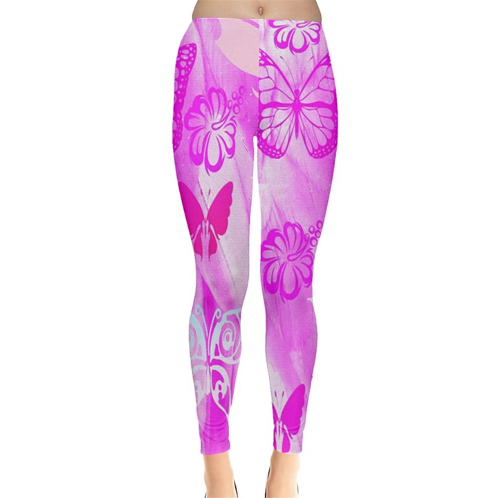Butterfly Cut Out Pattern Colorful Colors Leggings