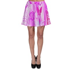 Butterfly Cut Out Pattern Colorful Colors Skater Skirt