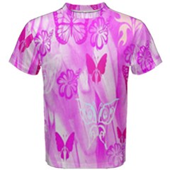 Butterfly Cut Out Pattern Colorful Colors Men s Cotton Tee