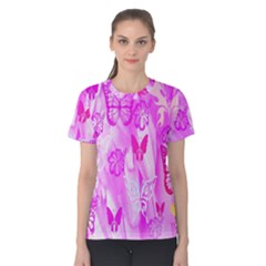 Butterfly Cut Out Pattern Colorful Colors Women s Cotton Tee
