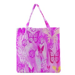 Butterfly Cut Out Pattern Colorful Colors Grocery Tote Bag