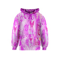 Butterfly Cut Out Pattern Colorful Colors Kids  Zipper Hoodie