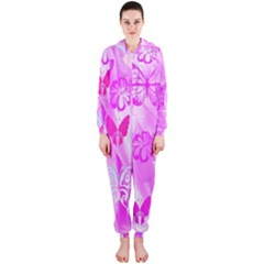 Butterfly Cut Out Pattern Colorful Colors Hooded Jumpsuit (Ladies)