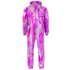 Butterfly Cut Out Pattern Colorful Colors Hooded Jumpsuit (Men)