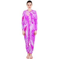 Butterfly Cut Out Pattern Colorful Colors OnePiece Jumpsuit (Ladies)