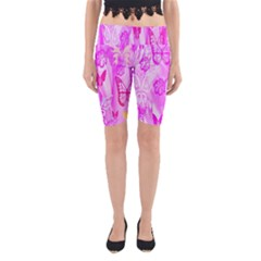 Butterfly Cut Out Pattern Colorful Colors Yoga Cropped Leggings