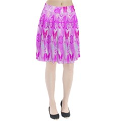Butterfly Cut Out Pattern Colorful Colors Pleated Skirt