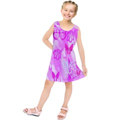 Butterfly Cut Out Pattern Colorful Colors Kids  Tunic Dress