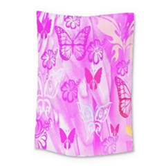 Butterfly Cut Out Pattern Colorful Colors Small Tapestry