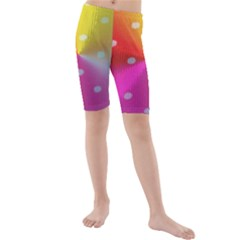 Polka Dots Pattern Colorful Colors Kids  Mid Length Swim Shorts