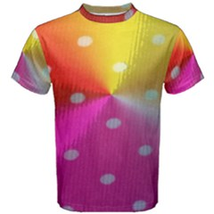 Polka Dots Pattern Colorful Colors Men s Cotton Tee