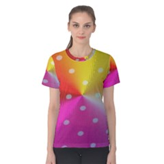 Polka Dots Pattern Colorful Colors Women s Cotton Tee