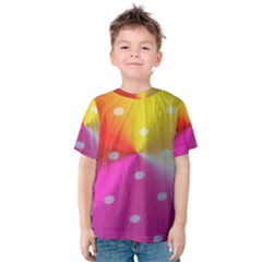 Polka Dots Pattern Colorful Colors Kids  Cotton Tee