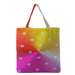 Polka Dots Pattern Colorful Colors Grocery Tote Bag