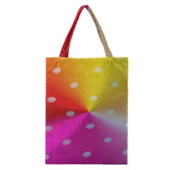 Polka Dots Pattern Colorful Colors Classic Tote Bag