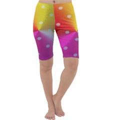 Polka Dots Pattern Colorful Colors Cropped Leggings