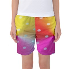 Polka Dots Pattern Colorful Colors Women s Basketball Shorts